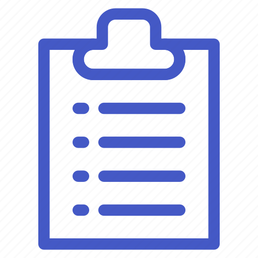 document, file, list, task, to do list icon