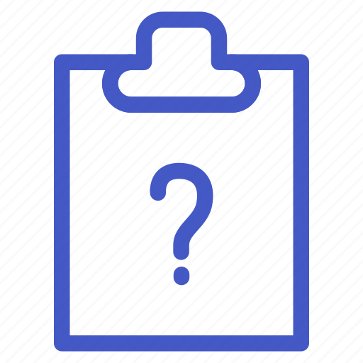 document, file, question, task icon