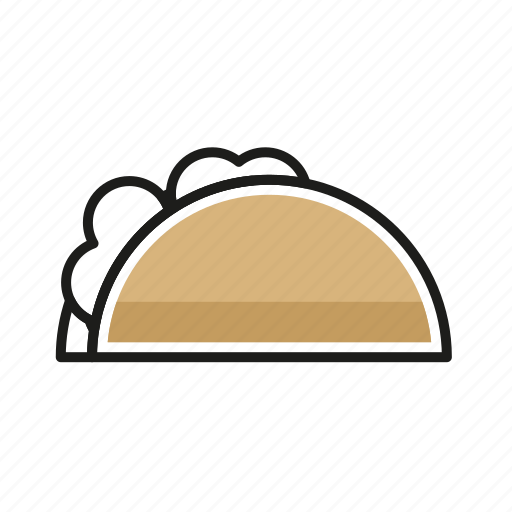 food, kitchen, meal, restaurant, taco icon