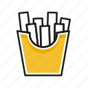 chips, food, kitchen, meal, restaurant icon