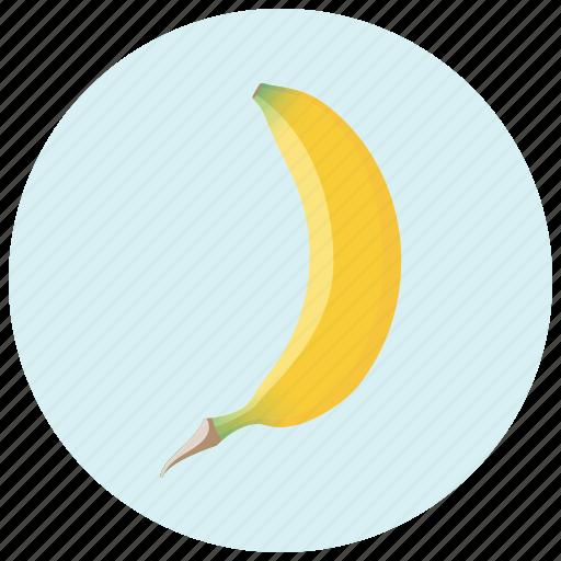 banana, eating, food, fruit healthy, snack, tropical icon