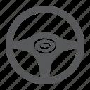 auto, drive, steering, transport, wheel icon