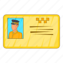 car, cartoon, document, driver, sign, taxi, transportation icon