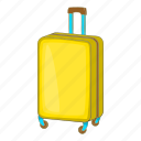 bag, baggage, cartoon, luggage, sign, suitcase, wheels icon
