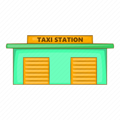 Car, cartoon, sign, station, taxi, transportation, vehicle icon - Download on Iconfinder