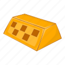 business, cab, cartoon, checker, orange, sign, taxi icon