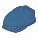 cap, cartoon, driver, hat, sign, transportation, uniform icon