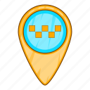 car, cartoon, geo, sign, taxi, transport, vehicle icon