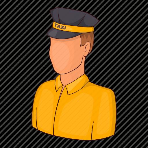 Car, cartoon, driver, sign, taxi, transportation, uniform icon - Download on Iconfinder