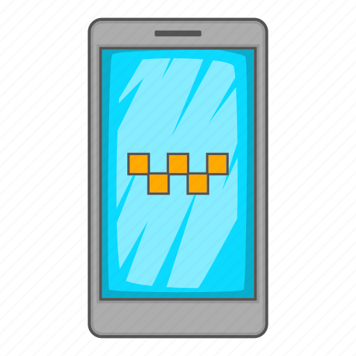 App, cartoon, mobile, phone, service, sign, taxi icon - Download on Iconfinder
