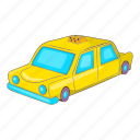 car, cartoon, sign, taxi, transport, travel, vehicle icon