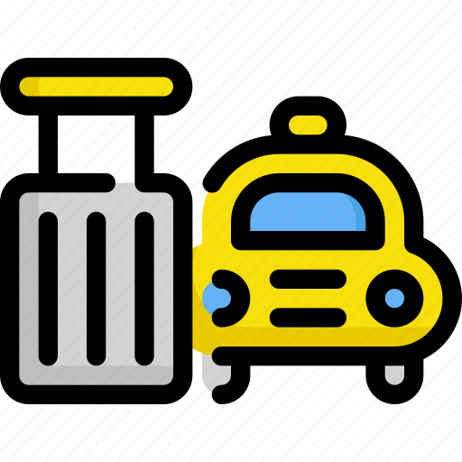 baggage, delivery, luggage, service, taxi, transport icon