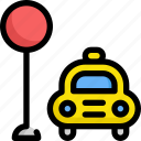 delivery, service, shipping, stop, taxi, transport icon