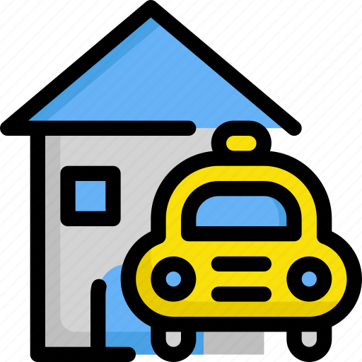 car, delivery, home, house, service, taxi, vehicle icon