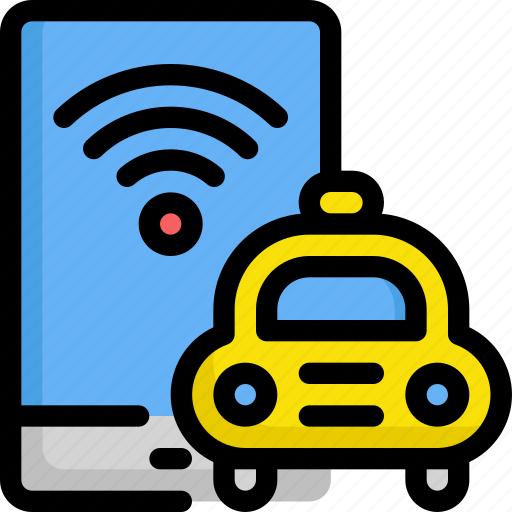 delivery, internet, online, service, taxi, wifi icon