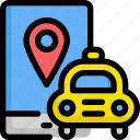 delivery, gps, location, pin, service, taxi icon