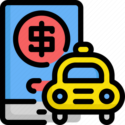 delivery, finance, money, payment, service, taxi icon