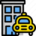building, delivery, hotel, house, service, shipping, taxi icon