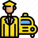 delivery, driver, service, taxi, transport, vehicle icon