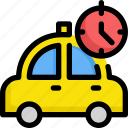 clock, delivery, service, shipping, taxi, time icon