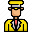 delivery, driver, man, service, taxi icon