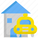 car, delivery, home, house, service, taxi, transport icon