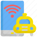 delivery, internet, network, service, taxi, web, wifi icon