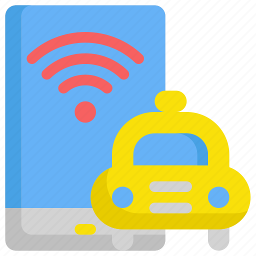 delivery, internet, network, service, taxi, web, wifi icon