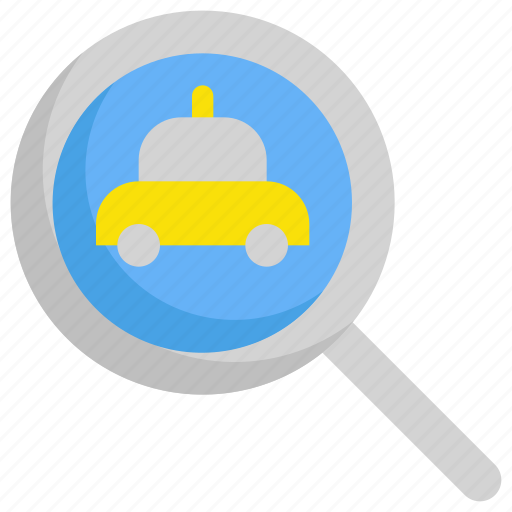 delivery, find, search, service, taxi icon