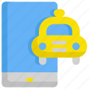 application, delivery, mobile, service, smartphone, taxi icon