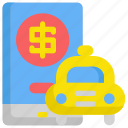 delivery, dollar, finance, money, payment, service, taxi icon