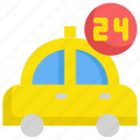 box, delivery, hours, service, shipping, taxi, truck icon