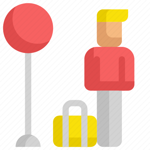 baggage, delivery, service, shipping, stop, taxi, transport icon