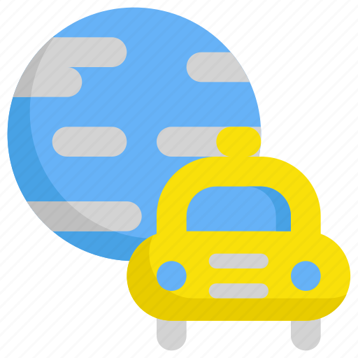 delivery, earth, service, shipping, taxi, world icon