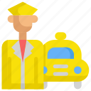 delivery, driver, service, shipping, support, taxi icon