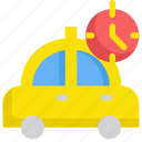 clock, delivery, service, taxi, time, transport icon