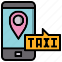 app, cellphone, communications, phone, smartphone, taxi, technology icon
