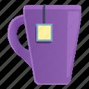 violet, tea, mug