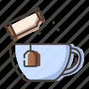 cup, drink, sugar, tea
