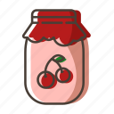dessert, jam, jar, sweet icon