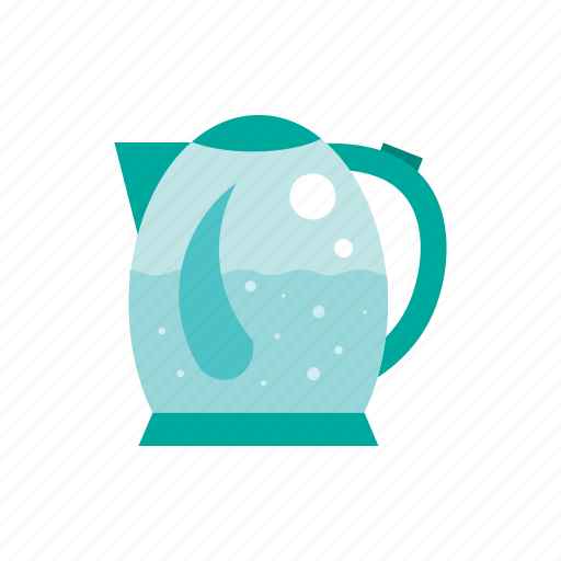 electric kettle, hot water, kettle, pot, tea, teapot icon