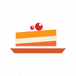 birthday, break, cake, cake piece, christmas cake, dessert, sweet icon