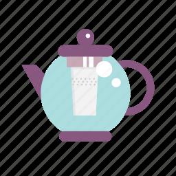 infuser teapot, kettle, pot, tea, teapot icon