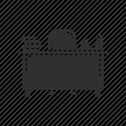 business, desk, table, teacher's table icon