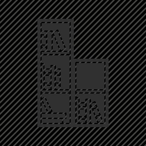 bookcase, books, library, read icon