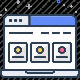 computer, dashboard, laptop, mvp, seo, web, website icon