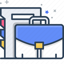 document, documents, files, folder, management, project, suitcase icon