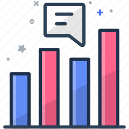 analytics, bar graph, business, colorful, datatable, graph, statistic icon