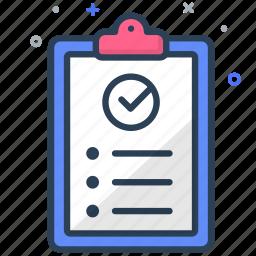 analytics, checklist, list, report, statistics, success, task icon