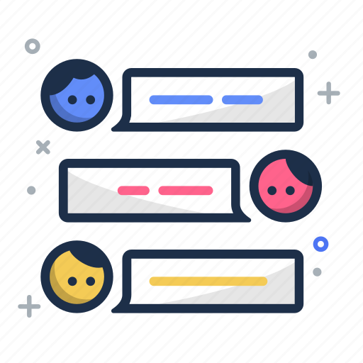 chat, conversation, group chat, speak, team, team chat, teamspeak icon